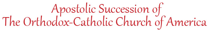 Apostolic Succession of OCCA